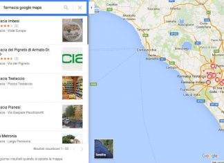farmacia su google maps