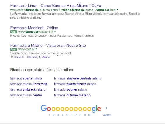 I diversi elementi della prima pagina di Google-2